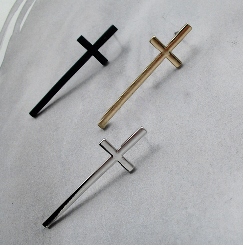 Gold, Black or Silver cross earrings from LookOutBoutique.com