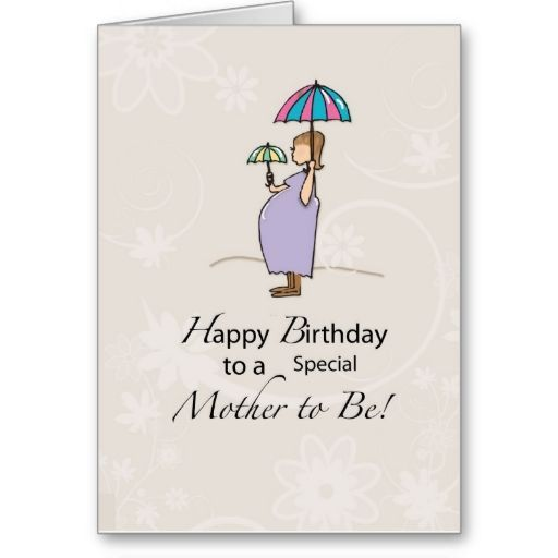 Birthday Pregnant Mom Card 1st Birthday Ideas Pinterest