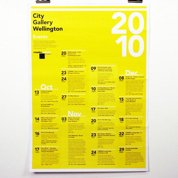 A Brochure Promoting The Spring Exhibition Which Also Folds Out