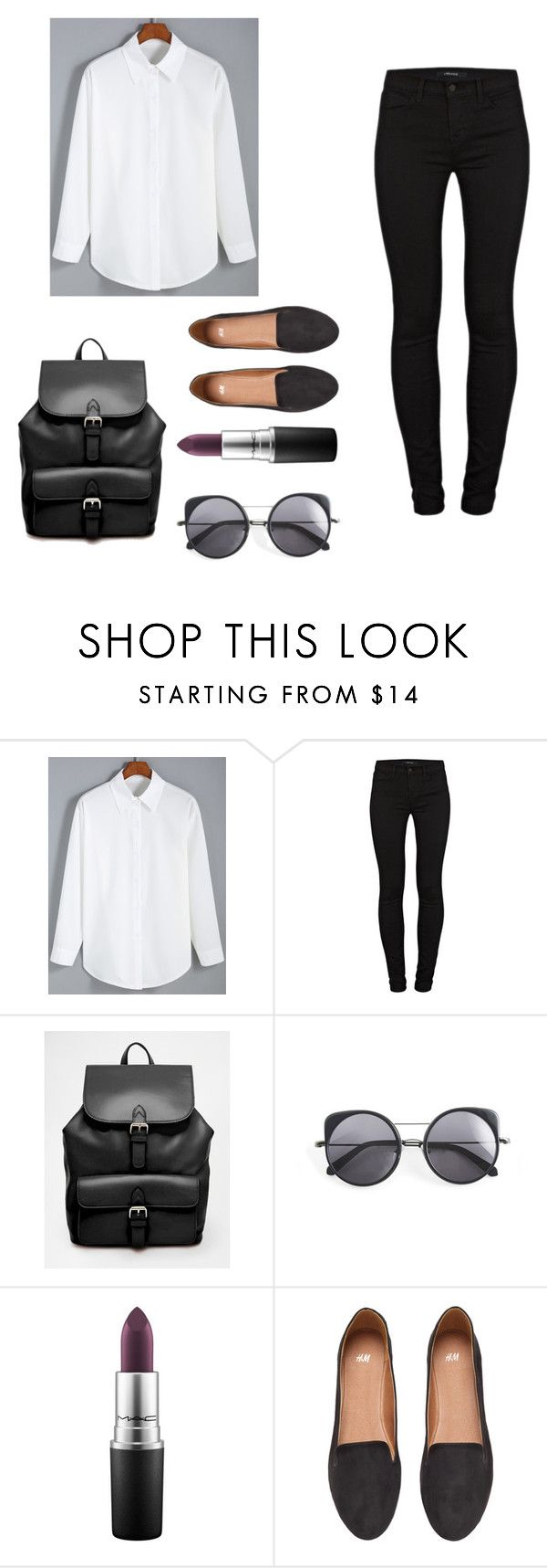 """""""❤️"""" by xfffashionlover ❤ liked on Polyvore featuring J Brand, ASOS, Wood Wood, MAC Cosmetics and H&M"""