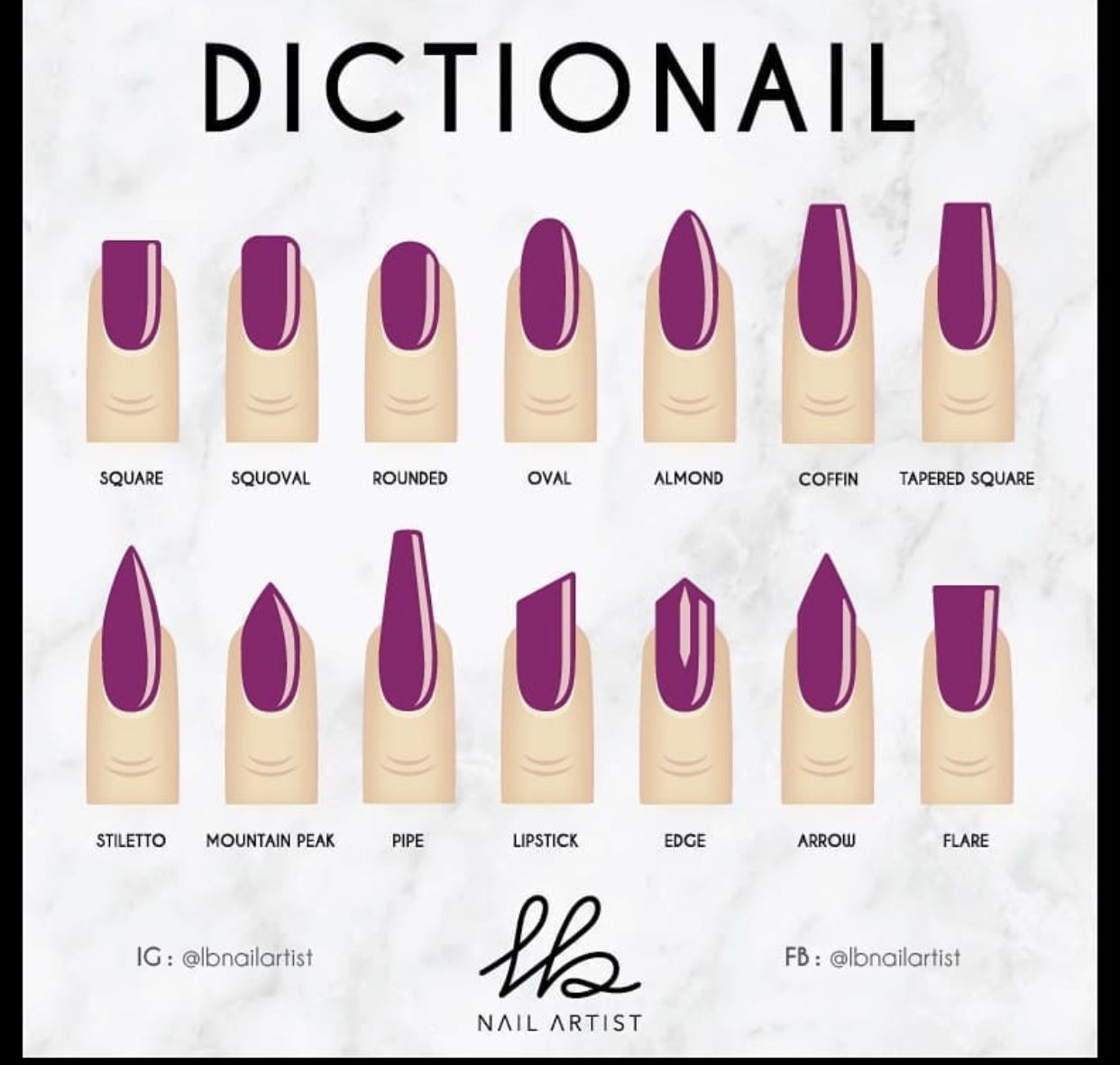 Pin By Destany B On Nails Natural Nail Shapes Nail Shapes