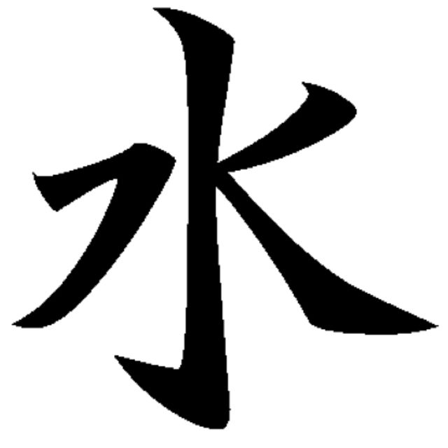 The Japanese Symbol For Water Spiritual Pinterest