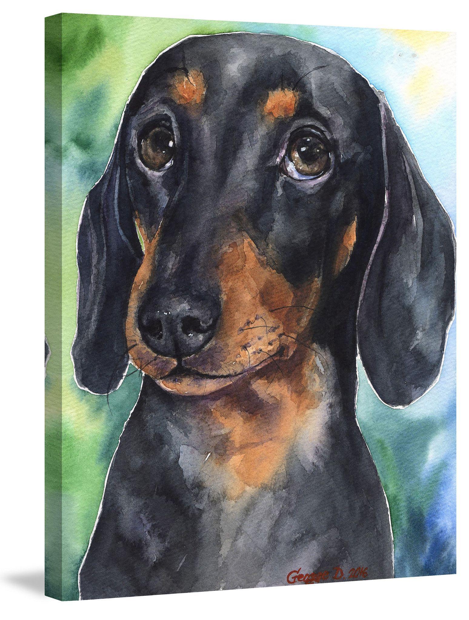 Dachshund Puppy Dog Paintings Dog Art Dachshund