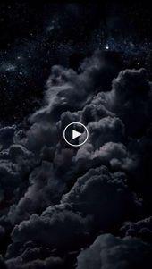 huawei Hintergrundbild schwarze Nächte Wolken Sterne # Tapete