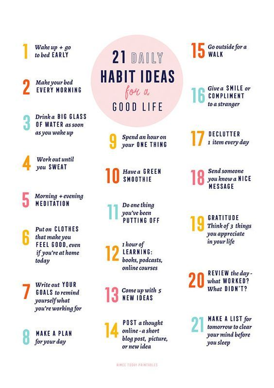 21 Daily Habits Ideas for A Good Life
