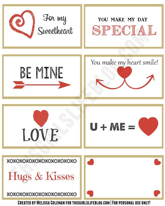 free valentine's day love notes these would also work great to, Ideas