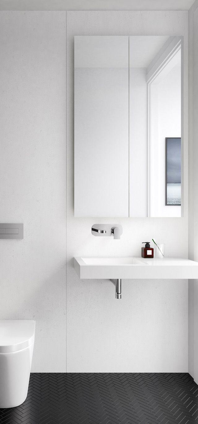 DKO   Bathroom   Pinterest   Brisbane, Minimal and Herringbone tile ...