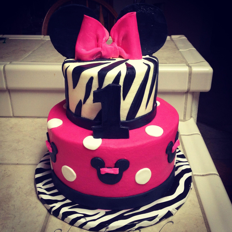 Minnie Mouse An Zebra Cake! By Shandi Cakes