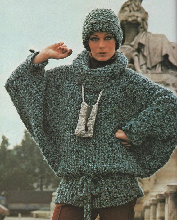 Instant Download PDF Knitting Pattern to make a Ladies Easy ...