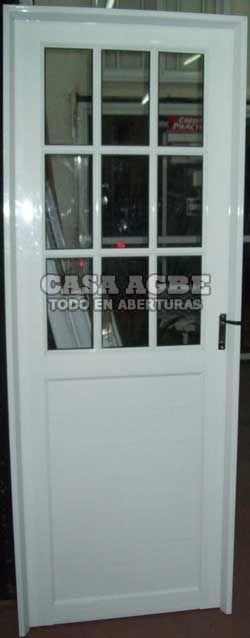 Puertas de aluminio ventanas y puertas pinterest - Modelos de puertas de aluminio ...