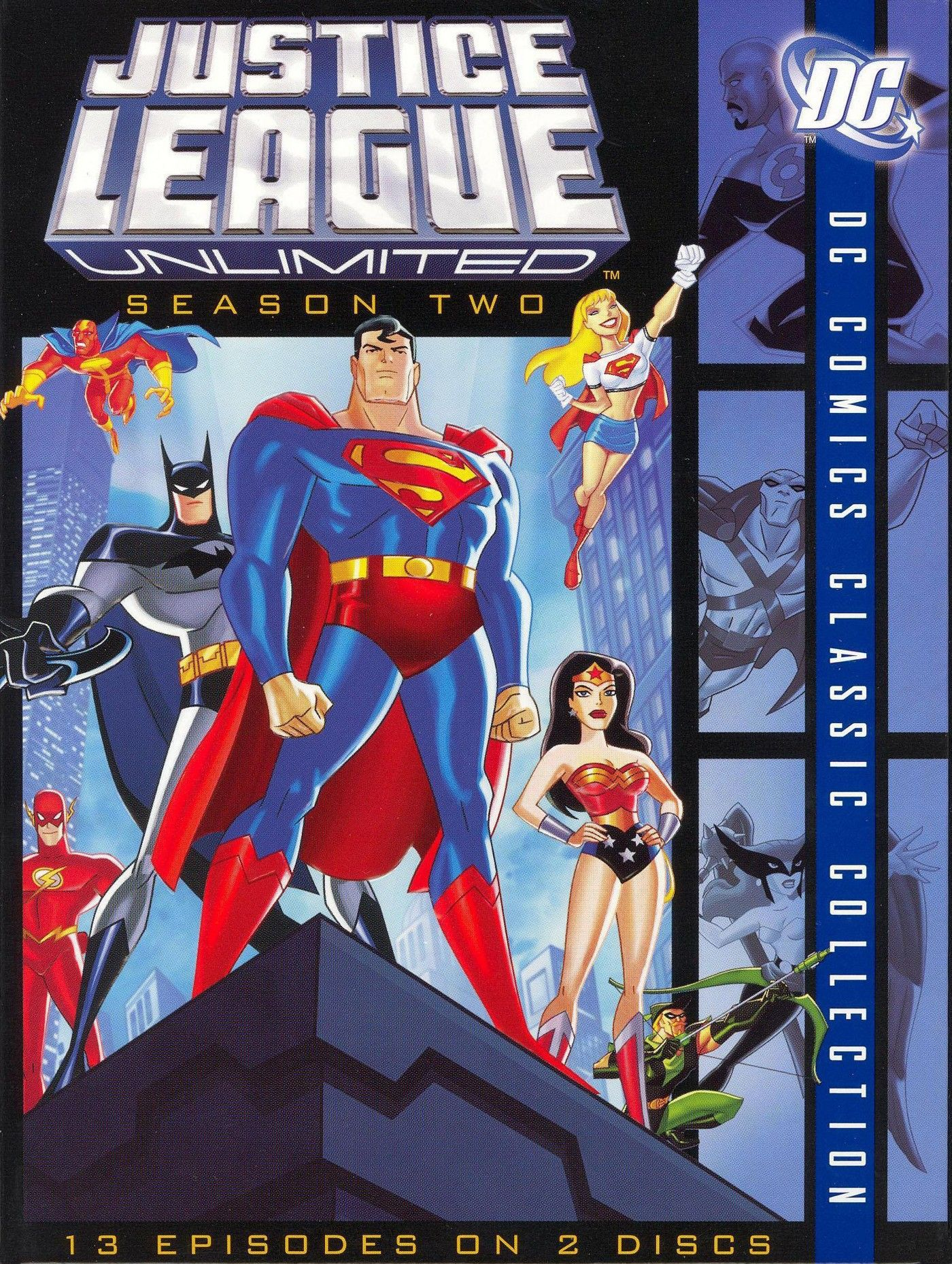 Justice League Unlimited Season Two Dvd In 2021 Justice League Unlimited Justice League New Superheroes
