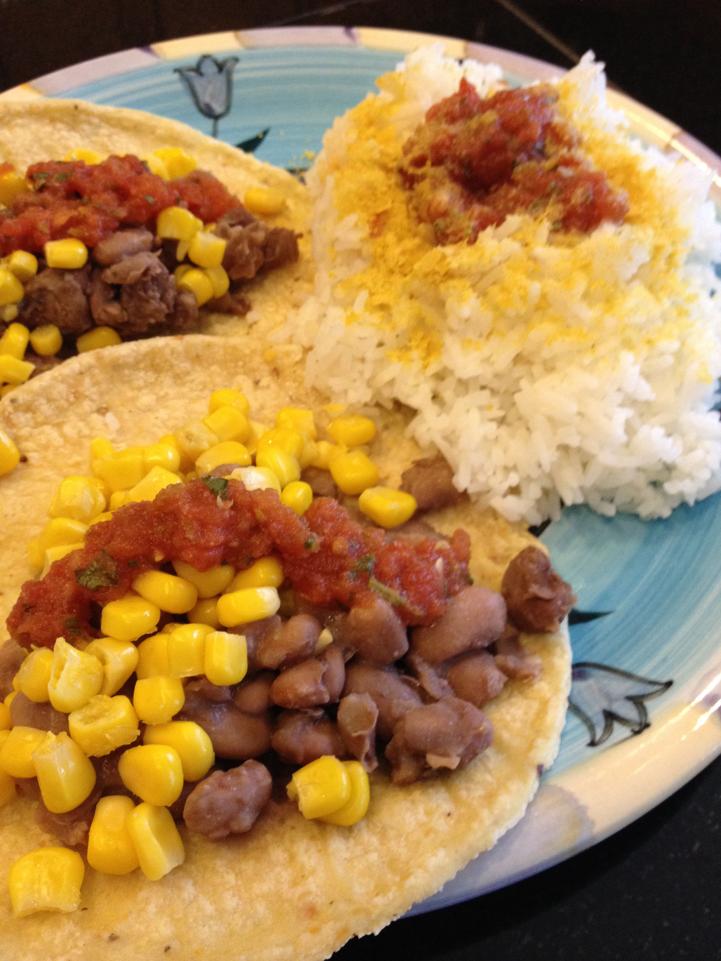 High Carb Vegan High Carb Low Fat Vegan Dinner Bean And Corn Tacos With