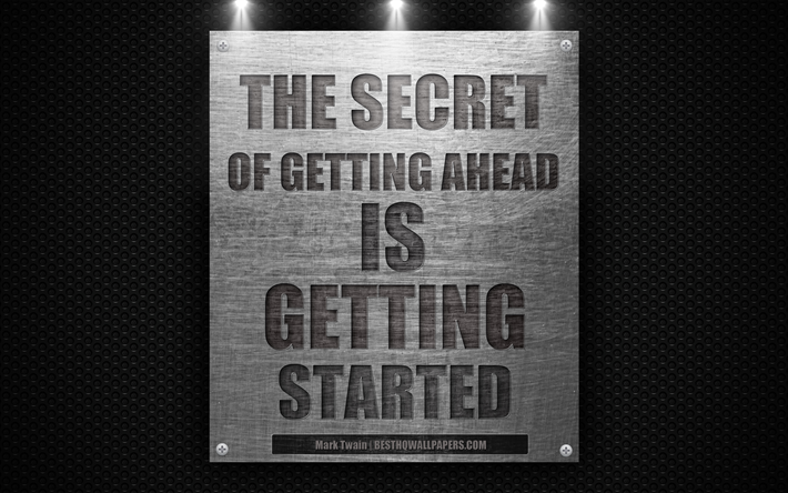Download wallpapers The secret of getting ahead is getting