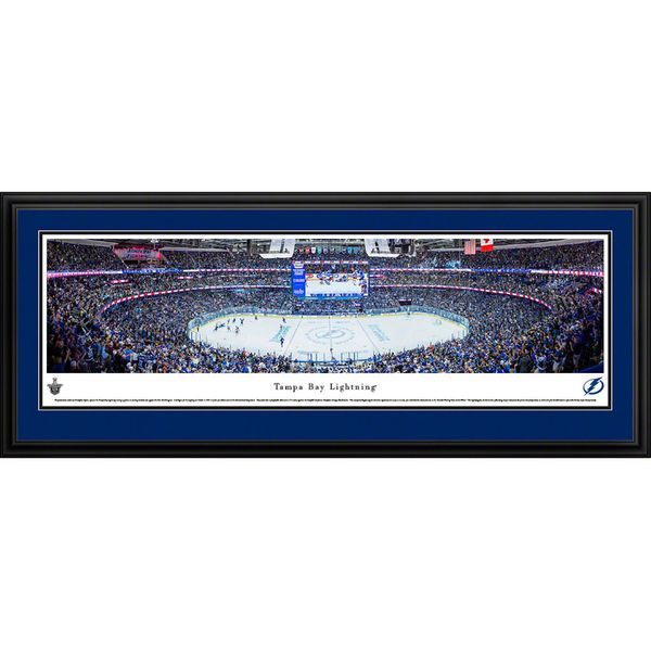 "Tampa Bay Lightning 18"" x 44"" Deluxe Framed Panoramic - $199.99"