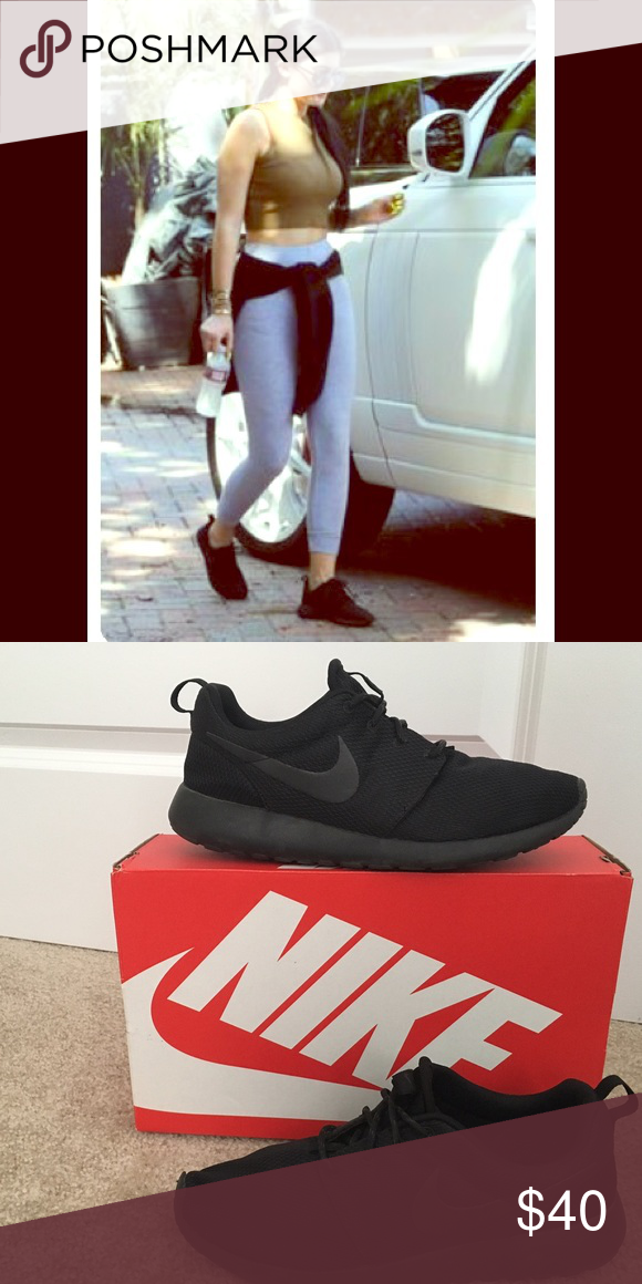 35544286cf0 Black Nike sneakers. Black Nike SneakersAll Black NikesNike ShoesShoes ...
