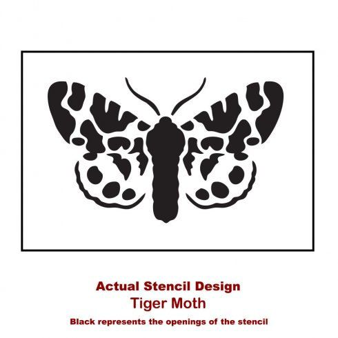 Tiger Moth Butterfly Wall Art Stencil Size: Small Better