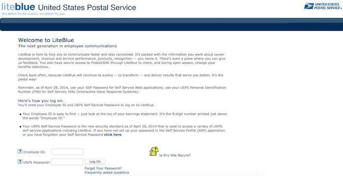 united postal service logon
