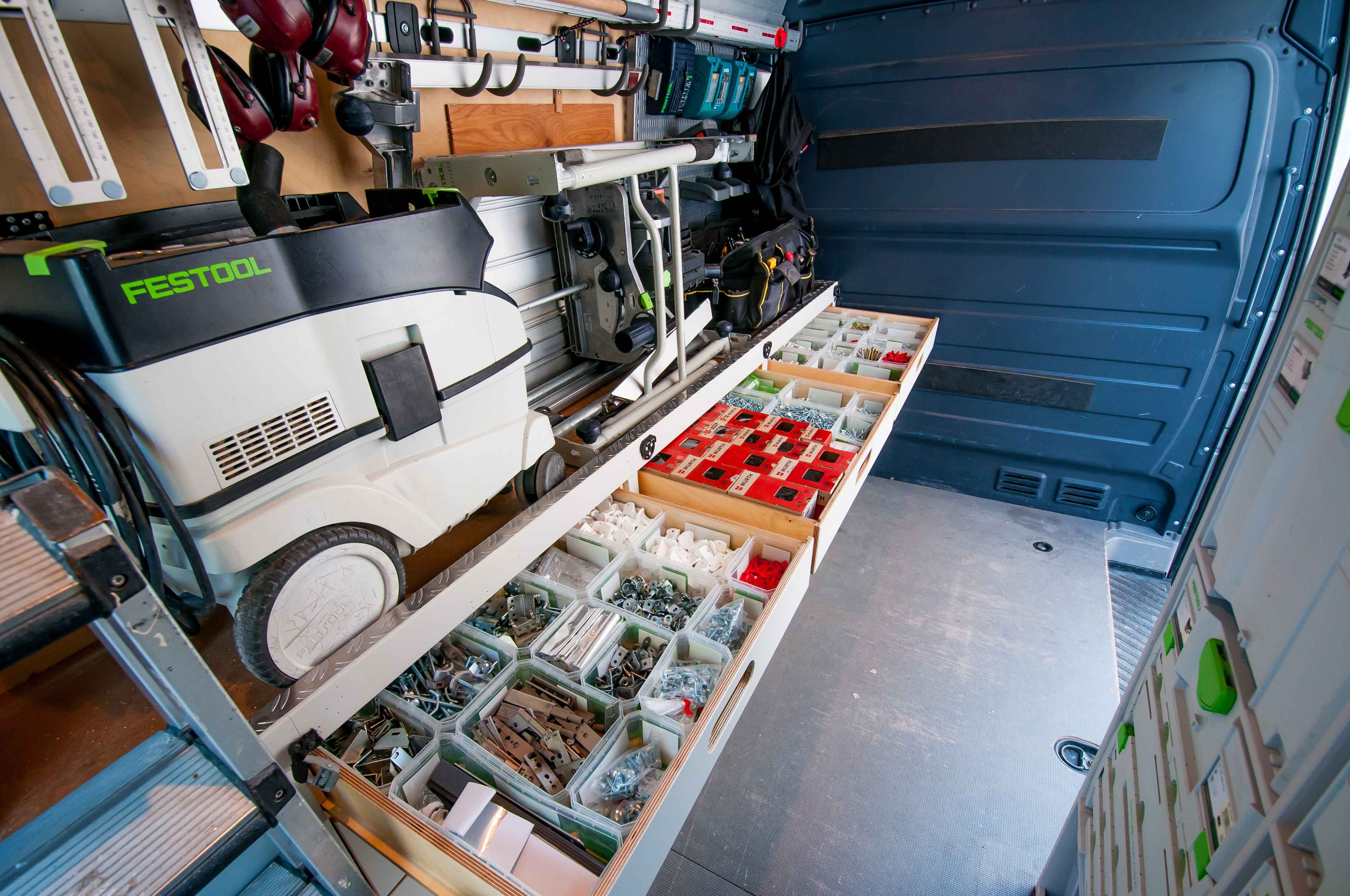Mercedes Sprinter Kitchen Fitter Setup With Festool And More