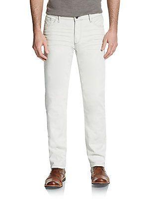DL1961 Premium Denim Nick Classic Slim-Fit Jeans - Easton White - Size
