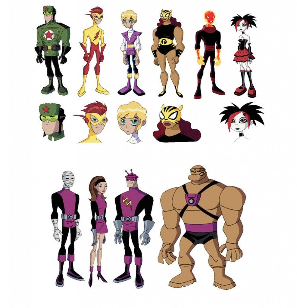 Character Design Styles : Teen titans model sheets e character design thecab