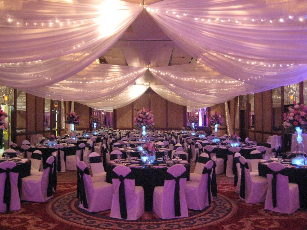 Reception ceilings what is involved in the process of draping a amazing wedding reception ceiling decorating ideas with bestlighting junglespirit Choice Image