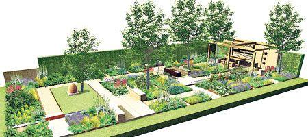Garden Design Rectangular Plot the watahan east & west garden rhs chelsea flower show 2016 / rhs