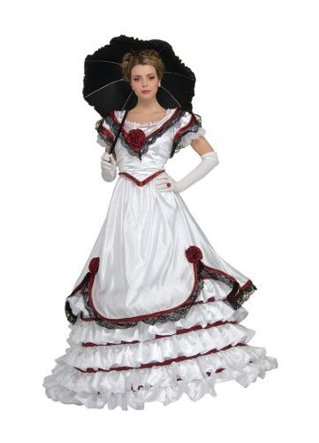 Adult Premium White Southern Belle Costume Rubies 56207, Medium, Multi #dressesfromthesouthernbelleera