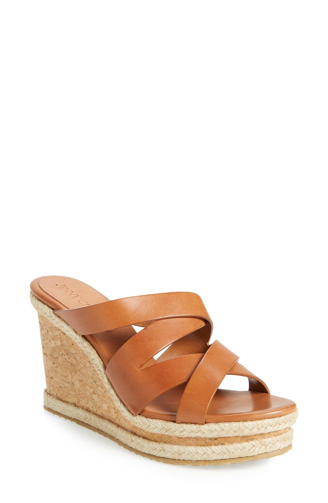 4b475ab171d1 Jimmy Choo  Prisma  Leather Wedge Sandal (Women)