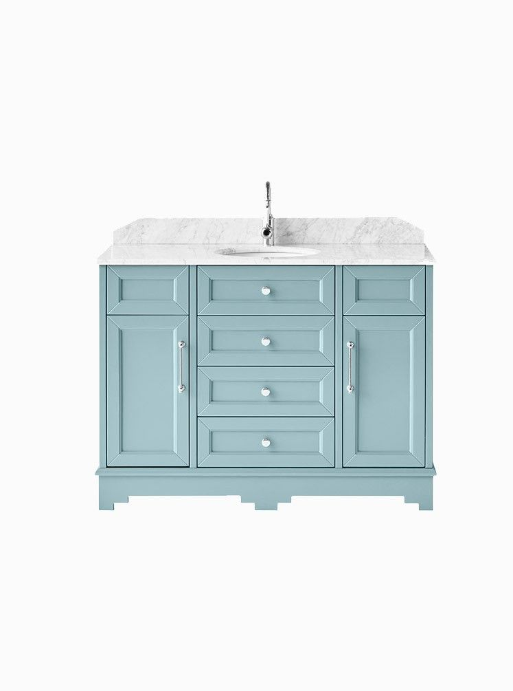 Chantel 1200 Duck Egg Carrara Wooden Bathroom Vanity Bathroom Vanity Grey Bathroom Vanity