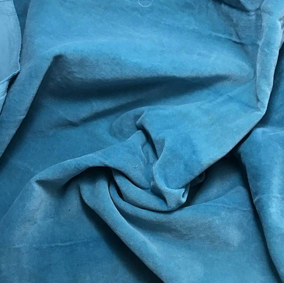 """Hand Dyed Cotton VELVETEEN Fabric LILAC fat 1//4 18/""""x27/"""" remnant"""