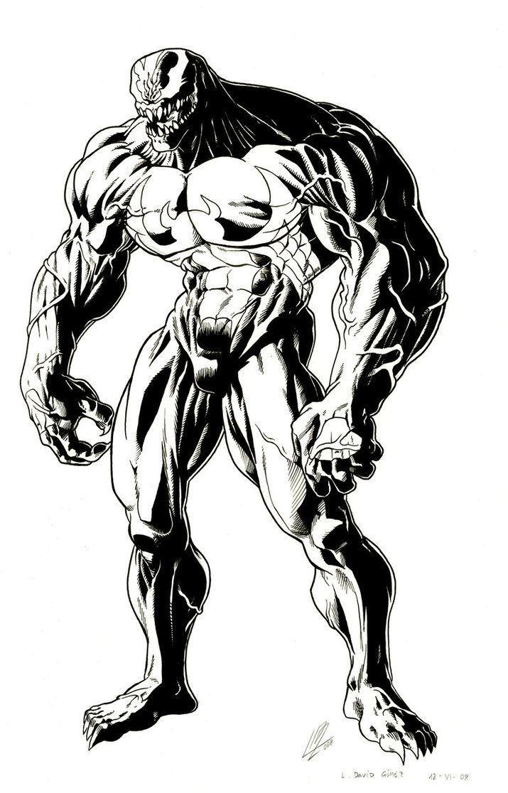 vinim coloring pages Venom indian ink by araeld For Cyrus