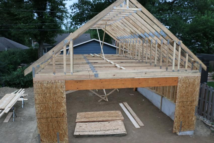 New 24 X34 Detached Garage With Attic Trusses Page 2 The Garage Journal Board Attic Truss Detached Garage Garage Design