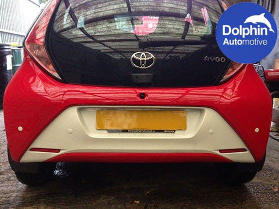 Installation Of Dolphin Automotive Parking Sensors On To A Toyota