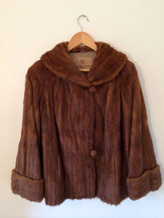 a711e4fd9 Vintage '60s Cropped Hudson Bay Mink Fur Coat// 60s Mink Fur Jacket by  TheFrenchSeventyFive