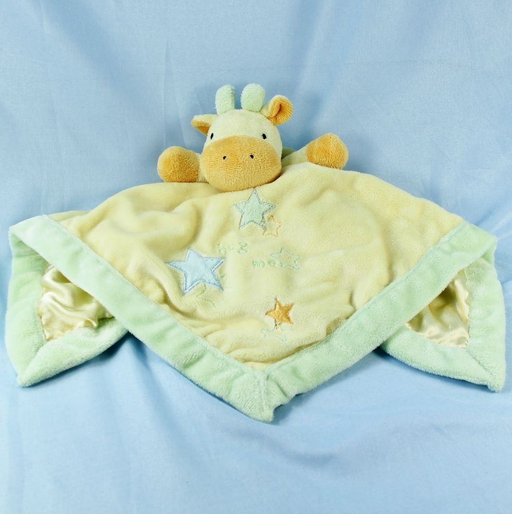 NWT Little Me Boy/'s Blue Plush Stroller Blanket Satin New