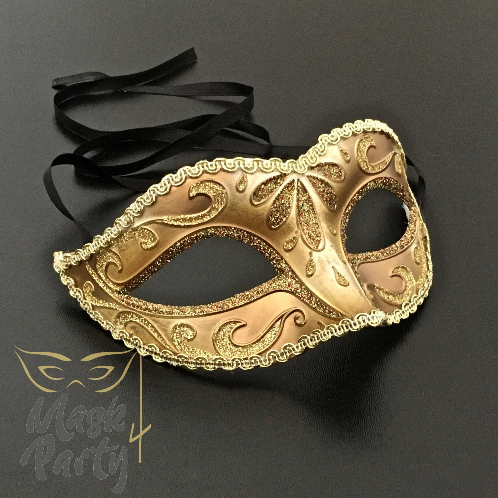 Unisex Mens Masquerade music notes mask Bachelor Party Halloween Costume Prom