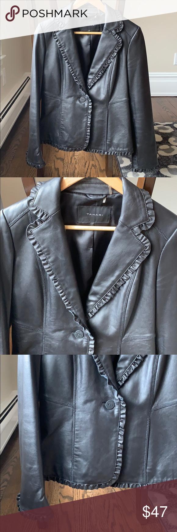 Tahari Black Leather Jacket Leather Jacket Clothes Design Black Leather Jacket [ 1740 x 580 Pixel ]