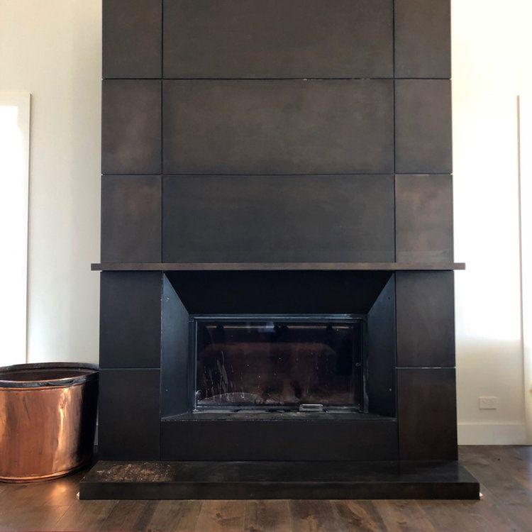 Fireplace Surround Bronze Smooth Florentine Metal Fireplace Fireplace Facade Fireplace Surrounds