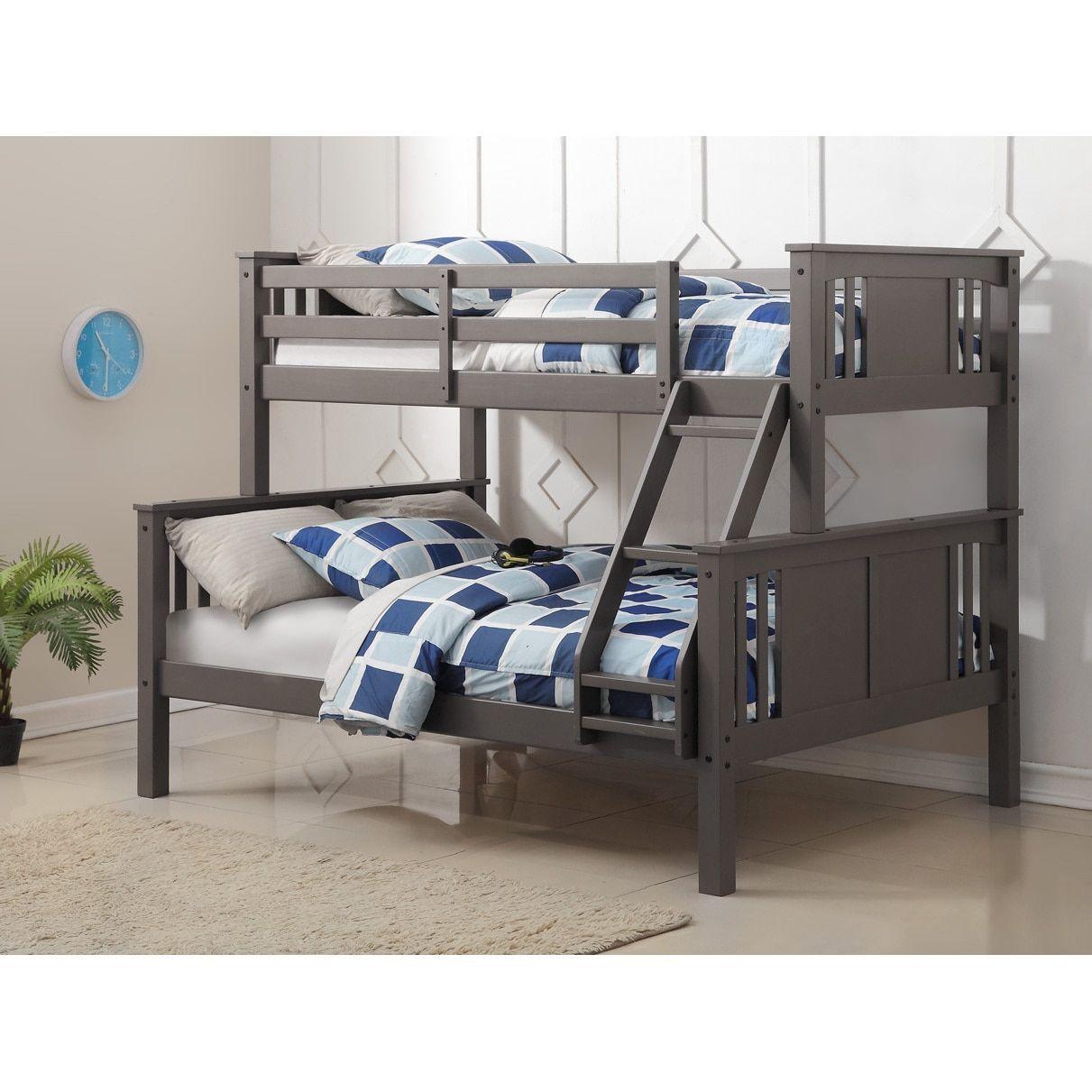 Donco Kids Princeton Slate Grey TwinoverFull Bunk Bed