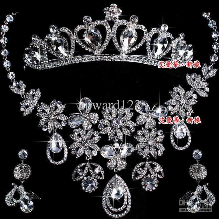 Rhinestone Wedding Crystal Cool Rings Indian Bridal Jewelry