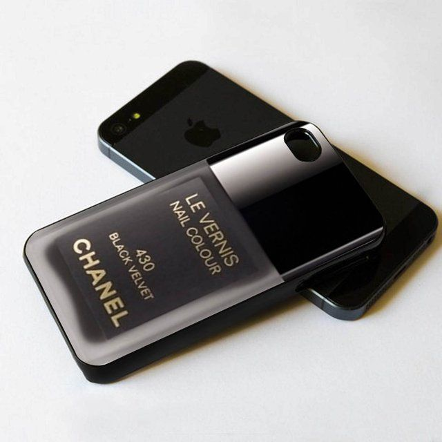 Fancy - Chanel black velvet nail polish iPhone 5 BLACK case | phone ...