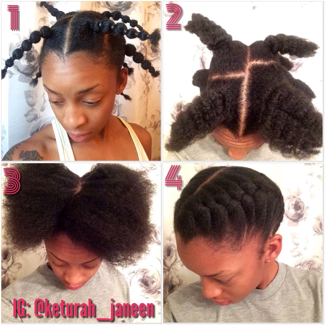 Rubber Band Method Used To Stretch My Hair Without Using Heat Meant For High Shrinkage 4c Naturals Natural Hair Styles Hair Styles Hair Without Heat