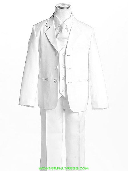 Product Information   Includes jacket, pants, long-sleeved white shirts, vest and tie  Can be worn at many special occasions  Size Chart    1-20  $45.00 as of 1/22