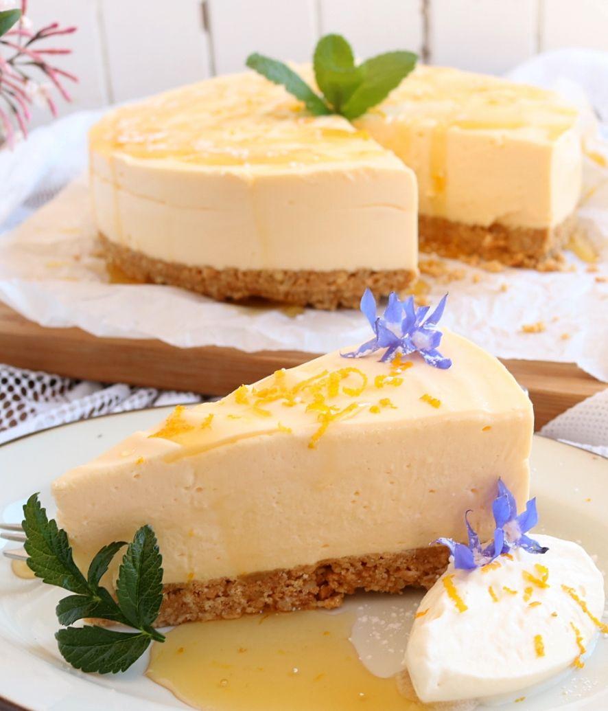 Lemon Honey Cheesecake Recipe Yummy Biscuits Cheesecake Food Processor Recipes