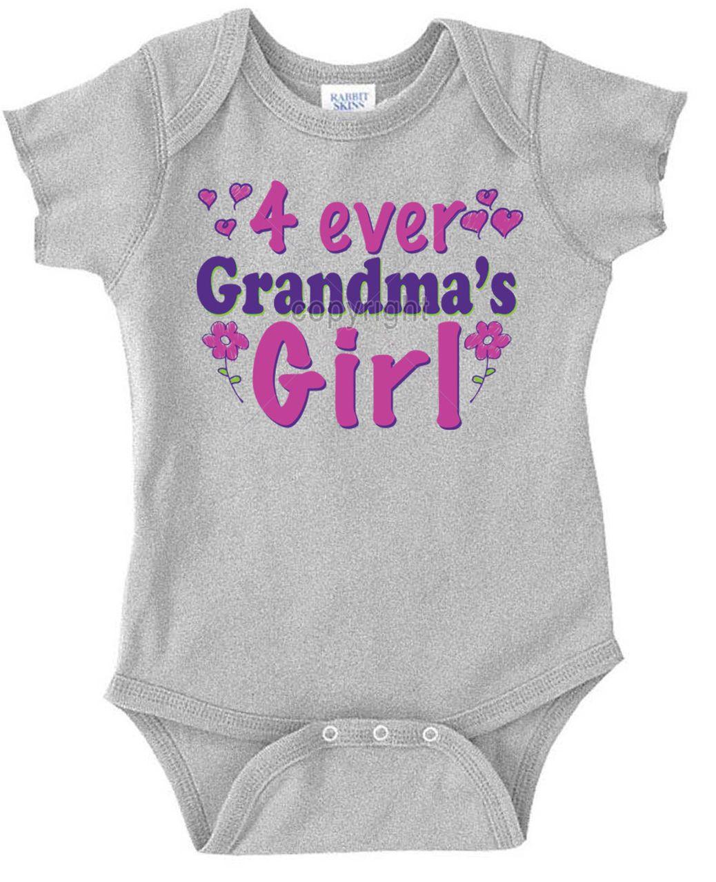 0e9cbb220021f 4 Ever Grandma's Girl Infant Bodysuit | Grandma's Girl Onesies ...