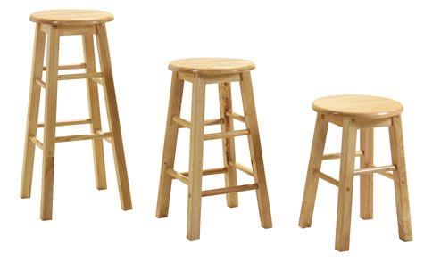 Zapon Wooden bar kitchen stool fixed height various sizes ...
