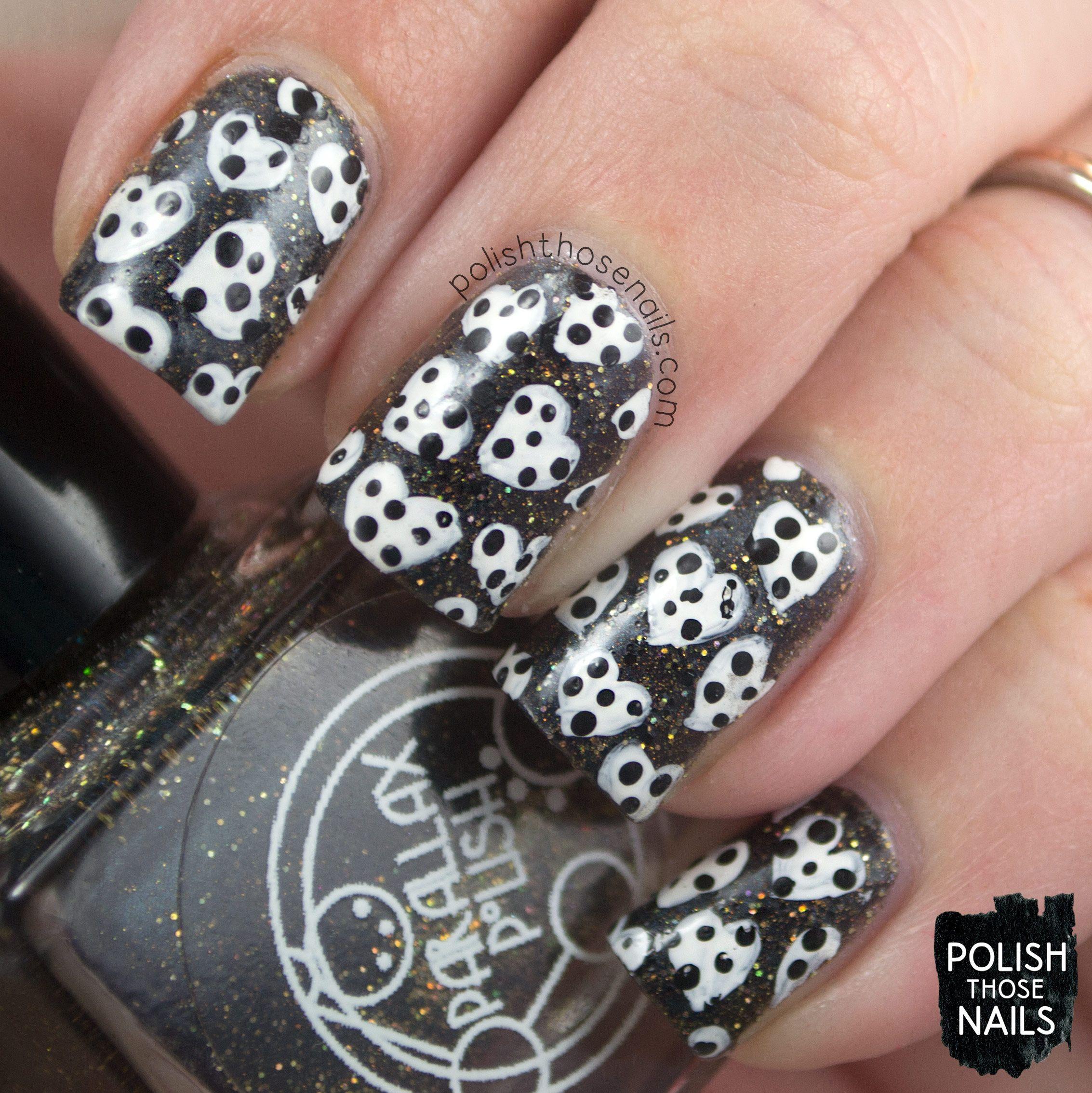 Dotty Hearts Polish Those Nails 26 Great Nail Art Ideas
