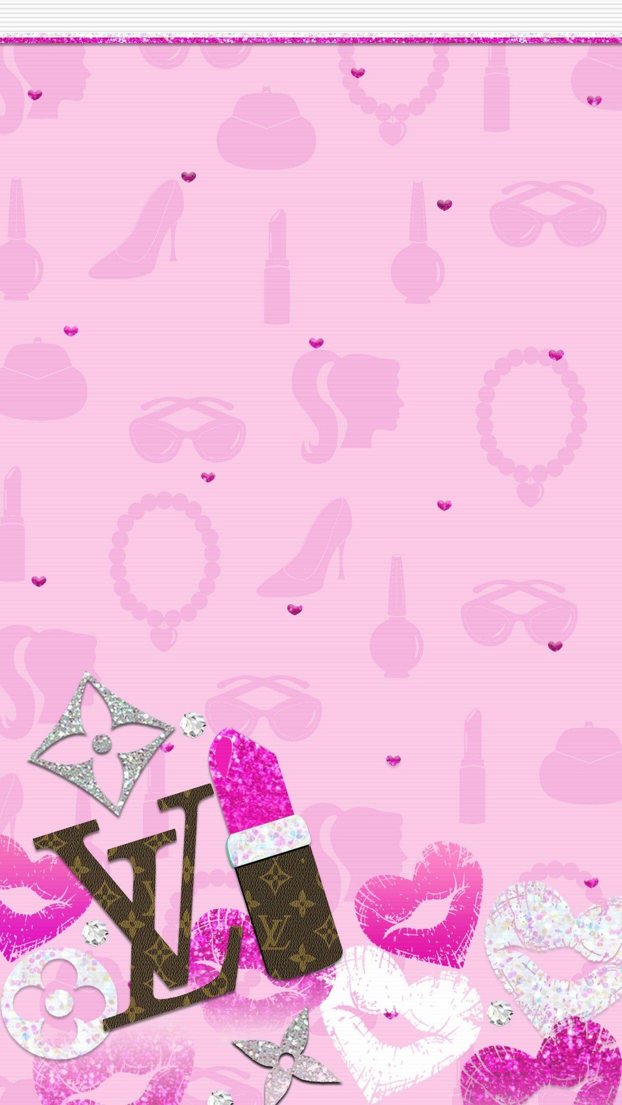 Vanity Pink Wall Glitter Phone Wallpaper Pretty Wallpaper Iphone Iphone Homescreen Wallpaper