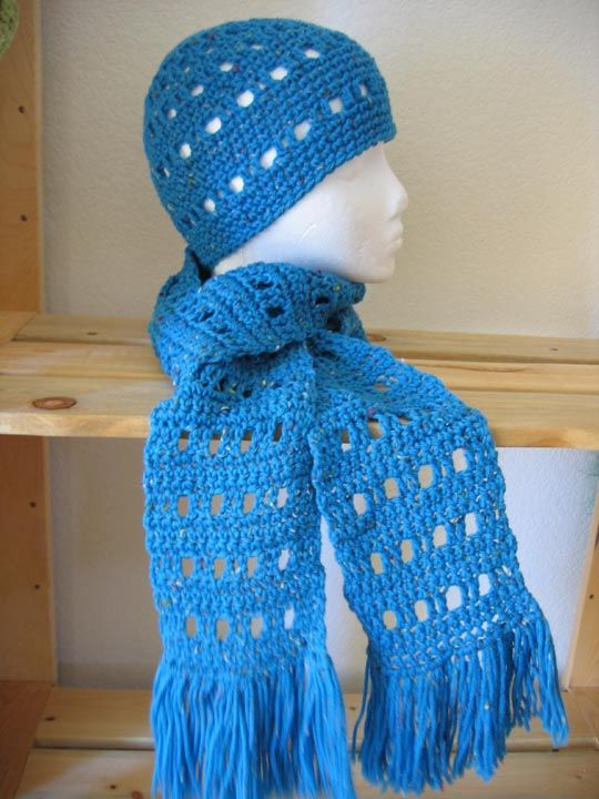 Hat+Scarf+Pattern crochet scarf Free Knitting Patterns ...