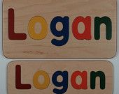 Great prices on homemade personalized wood Name Puzzles, stepstools and hooks.
